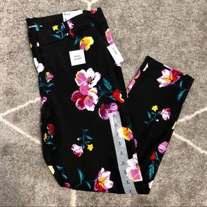 NWT Old Navy Floral Pixie Cut Pants